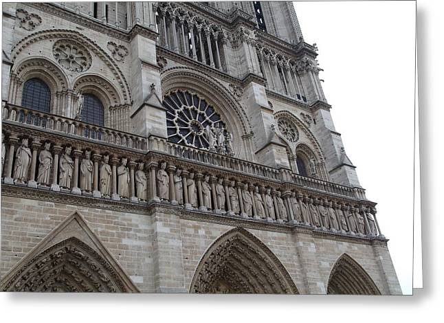 Paris France - Notre Dame De Paris - 01138 Greeting Card by DC Photographer