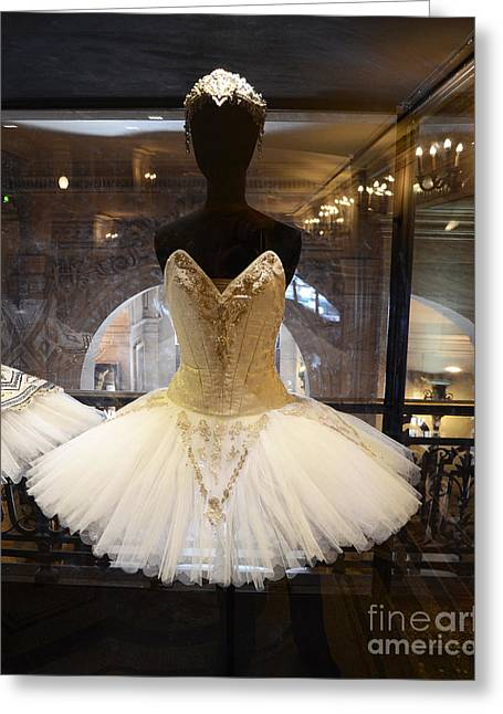Paris Opera House Ballerina Costumes - Paris Opera Garnier Ballet Art - Ballerina Fashion Tutu Art Greeting Card