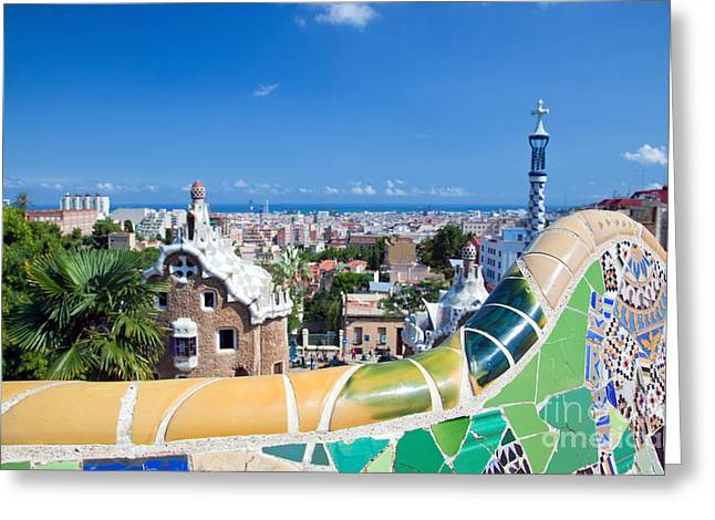 Park Guell In Barcelona Greeting Card by Michal Bednarek