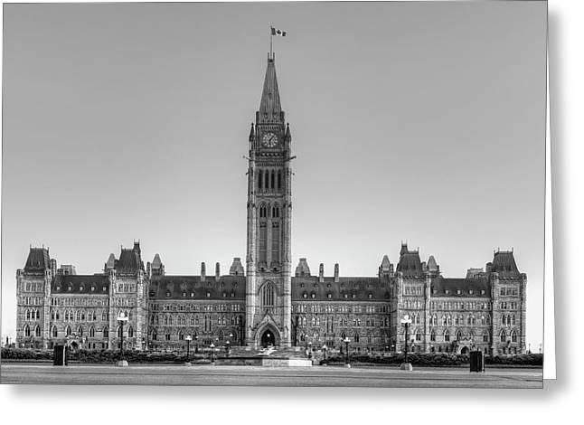 Parliament Buildings Of Canada  Ottawa Greeting Card by David Chapman
