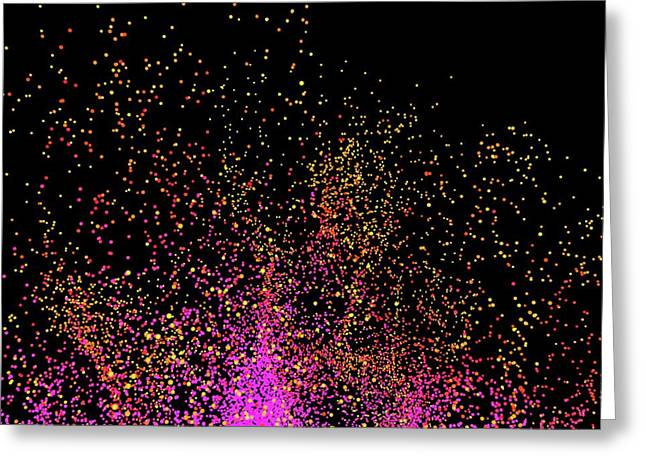 Particle Burst Greeting Card by Alfred Pasieka