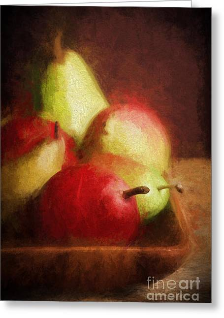 Pears Greeting Card by HD Connelly
