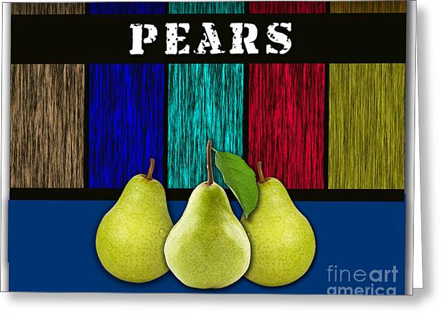 Pears Greeting Card by Marvin Blaine