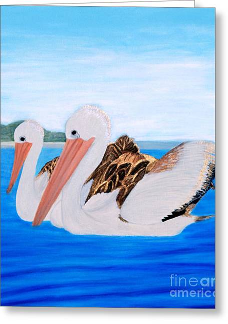 Pelicans.   Inspirations Collection. Greeting Card