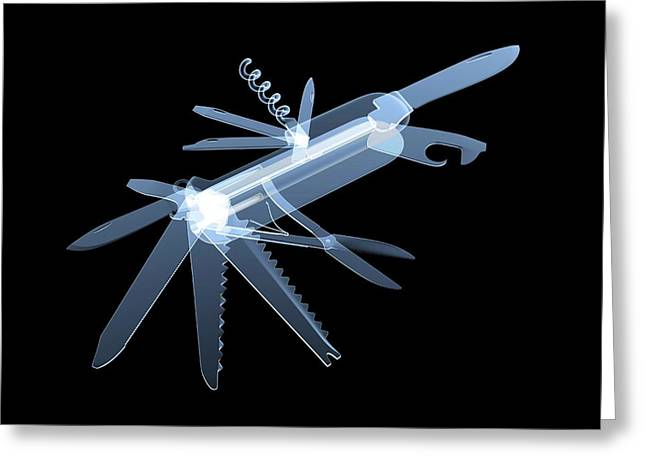 Penknife Greeting Card by Alfred Pasieka