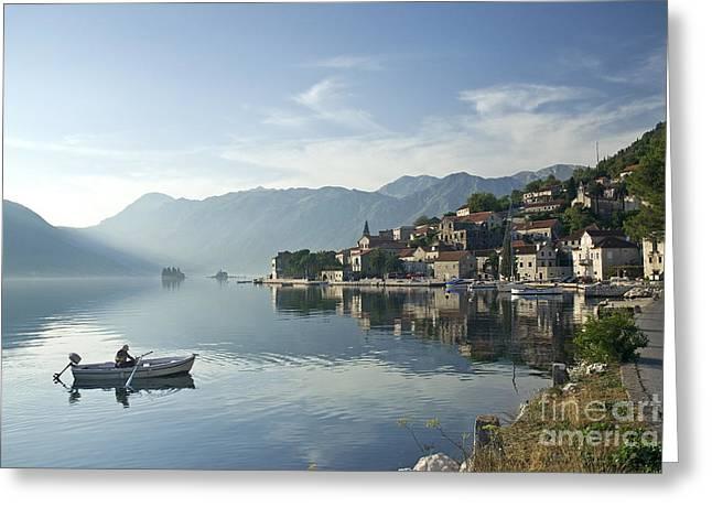 Perast Village In Montenegro Greeting Card