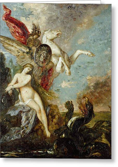 Perseus And Andromeda Greeting Card by Gustave Moreau