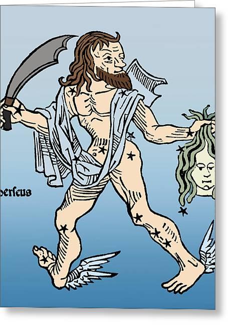 Perseus Constellation Greeting Card
