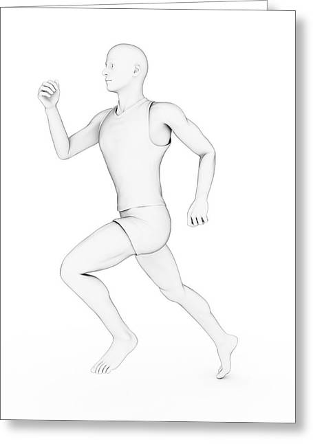Person Jogging Greeting Card