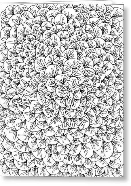 Petals Greeting Card by Yvette Pichette