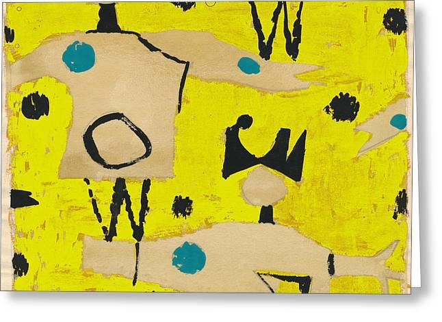 Petra James, Contemporary Modern Artist Greeting Card by Artokoloro