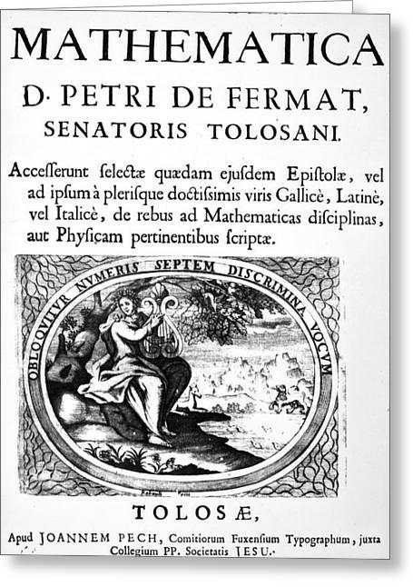 Pierre De Fermat (1601-1665) Greeting Card