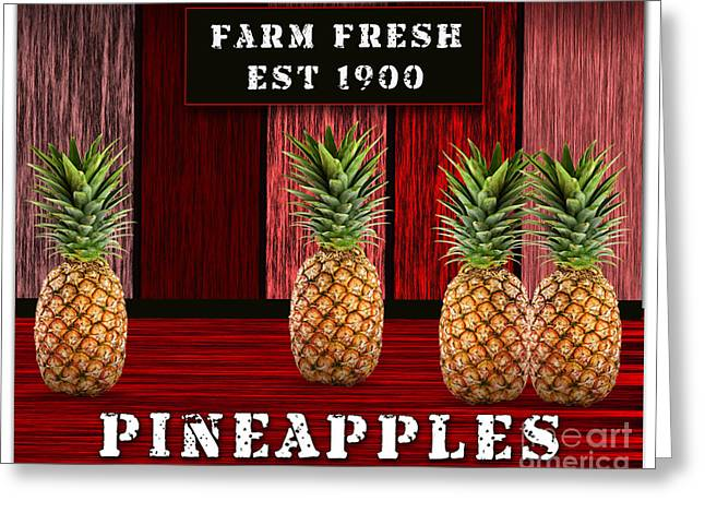 Pineapple Farm Greeting Card by Marvin Blaine