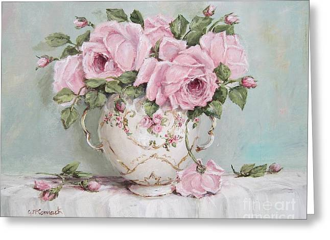 Pink Display Of Roses Greeting Card by Gail McCormack
