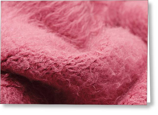 Pink Scarf Greeting Card by Tom Gowanlock