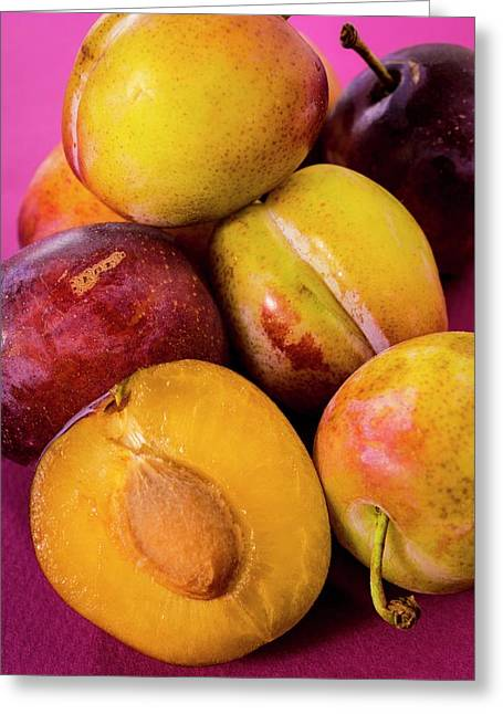 Plums Greeting Card by Aberration Films Ltd