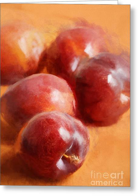 Plums Greeting Card by HD Connelly