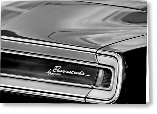 Plymouth Barracuda Taillight Emblem Greeting Card by Jill Reger
