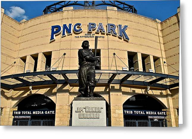Pnc Park Greeting Card by Frozen in Time Fine Art Photography