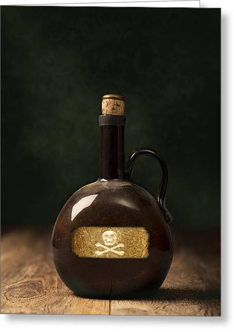 Poison Bottle Greeting Card by Amanda Elwell