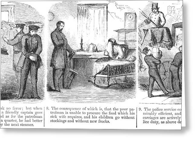 Police Corruption Cartoon Greeting Card by Granger