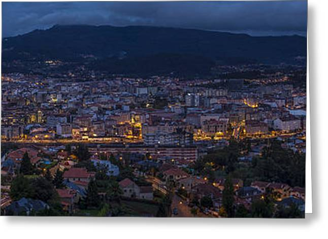 Greeting Card featuring the photograph Pontevedra Panorama From A Caeira by Pablo Avanzini