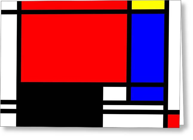 Pop-art Mondriaan Greeting Card by Tommytechno Sweden