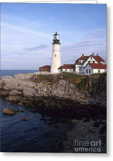 Portland Head Lighthouse Greeting Card by Bruce Roberts