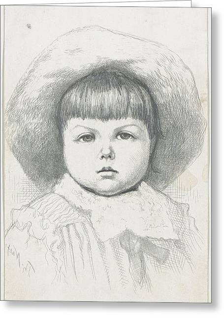 Portrait Of A Child Cyril Nast Greeting Card