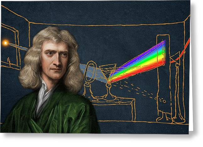 Portrait Of Isaac Newton Greeting Card