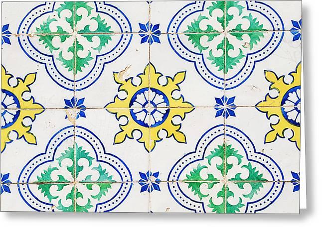 Portuguese Azulejos Greeting Card