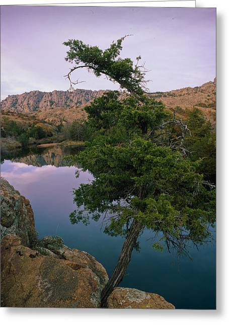 Post Oak Lake And Elk Mountain Greeting Card