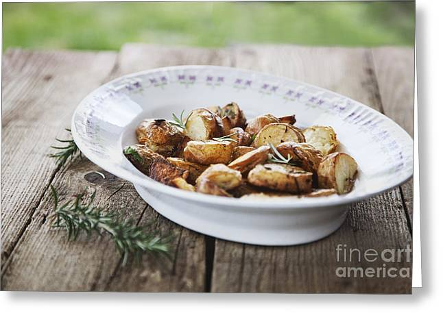Potatoes Greeting Card by Mythja  Photography