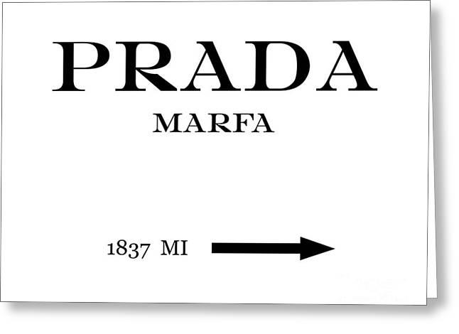 Prada Marfa Mileage Distance Greeting Card