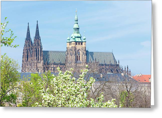 Prague - View Of Hradcany Castle Greeting Card