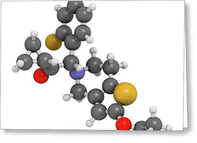 Prasugrel Platelet Inhibitor Drug Greeting Card
