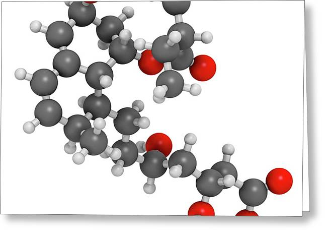 Pravastatin Cholesterol Lowering Drug Greeting Card by Molekuul