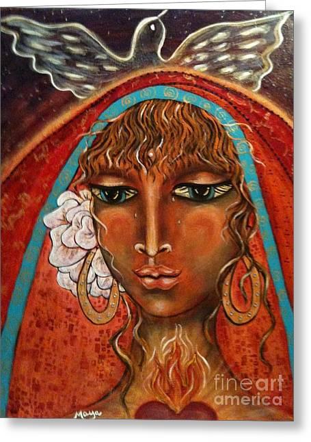 Pray For Peace Greeting Card by Maya Telford