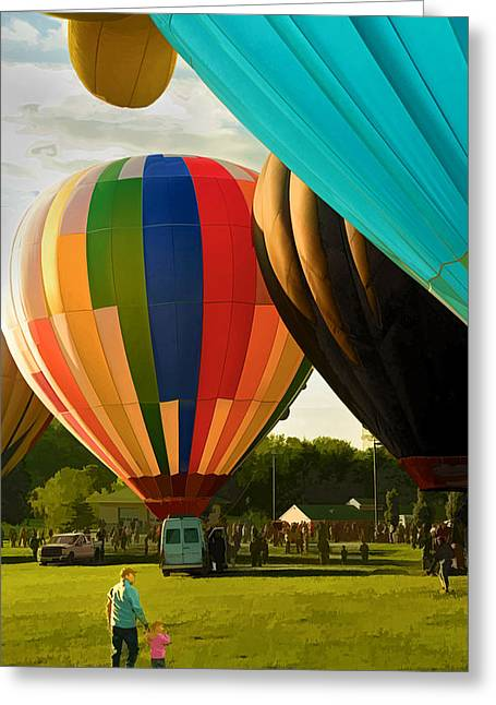 Greeting Card featuring the photograph Preakness Balloon Festival by Dana Sohr