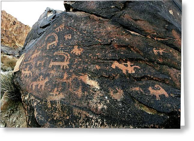 Prehistoric Rock Art Greeting Card by Babak Tafreshi
