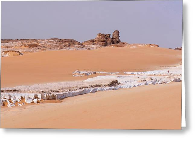 Prehistoric Saharan Lake Deposits Greeting Card