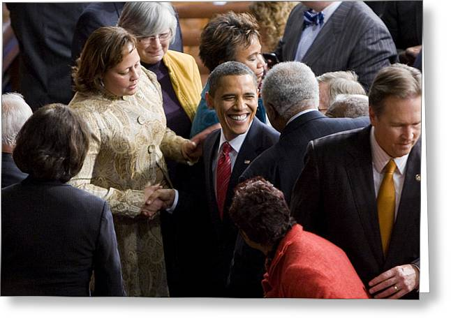President Obama Greeting Card