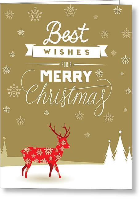 Red Deer Christmas Greeting Card