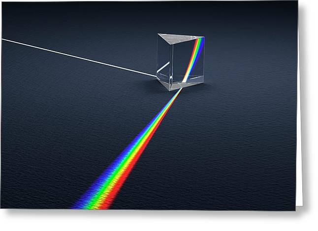 Prism Dispersing Light Into Spectrum Greeting Card