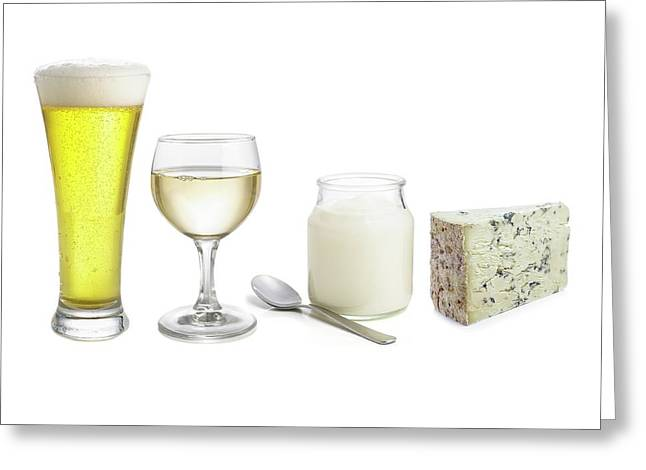 Products Of Fermentation Greeting Card by Science Photo Library