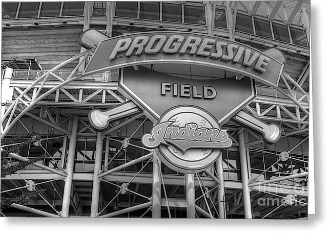 Progressive Field Greeting Card by David Bearden