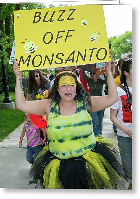 Protest Against Gm Crops Greeting Card by Jim West