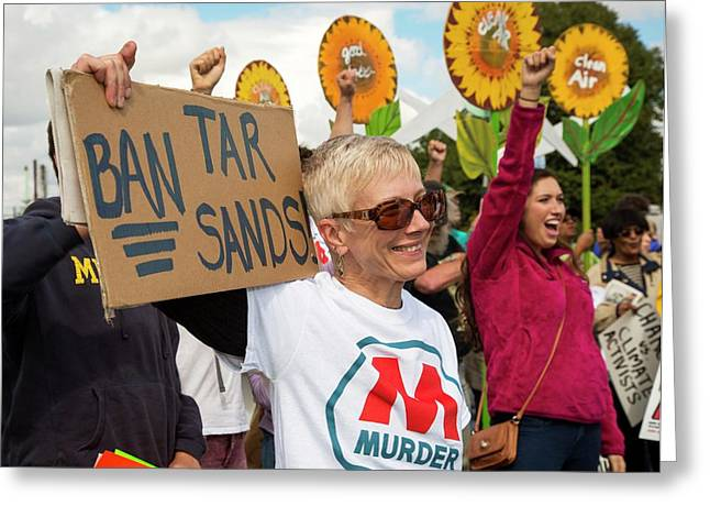 Protest Against Tar Sands Greeting Card by Jim West