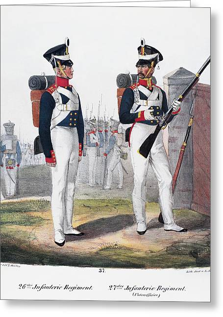 Prussian Soldiers, 1830 Greeting Card
