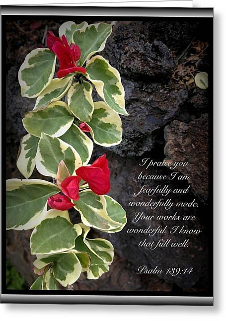 Psalm 139 14 Greeting Card